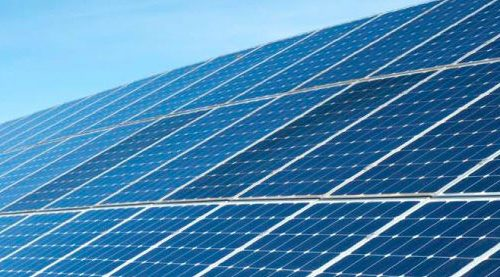 banner of commercial solar PV webpage displaying solar farm
