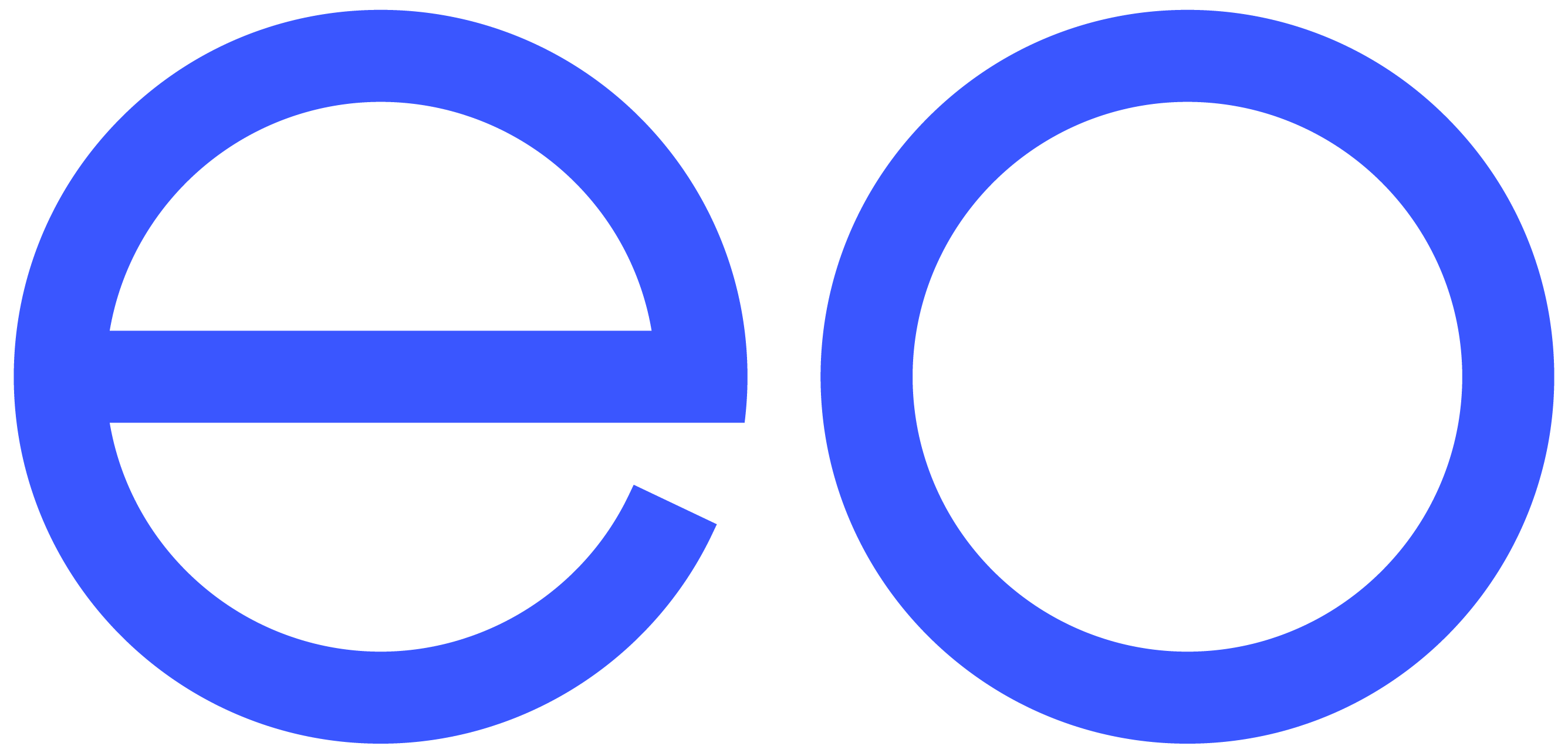 Eo charging logo in blue