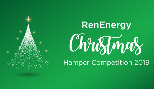 Christmas tree graphic: RenEnergy Christmas Hamper competition